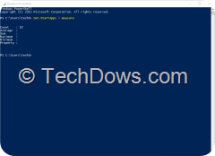 PowerShell showing installed Apps count