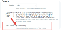 Video Autoplay setting Twitter