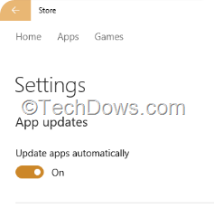Windows 10 Store  allows Home users to disable App updates