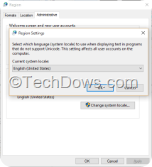 system locale and launguage settings