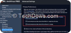 AVG privacy preferences