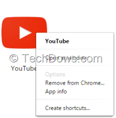 Chrome YouTube app