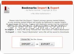 Opera bookmarks import & Export extension