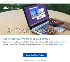 Save Screenshots to OneDrive Prompt