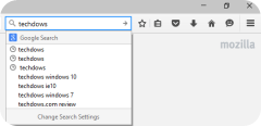 altered new searchbar UI Firefox