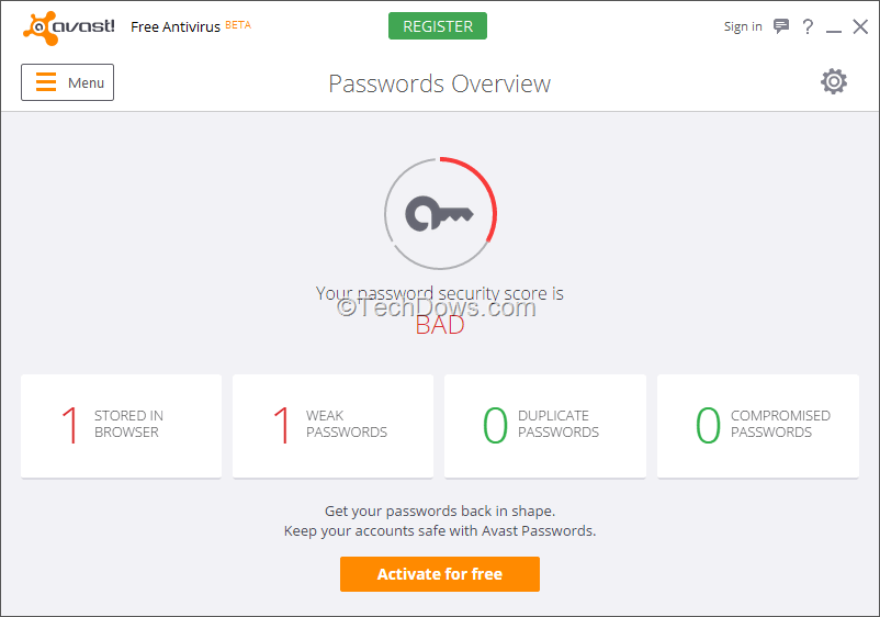 avast passwords for firefox