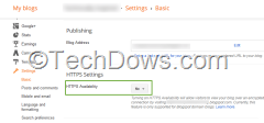 Blogspot HTTPS availability setting