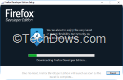 Firefox developer edition stub installer sucks