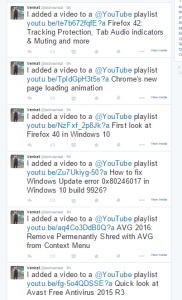 Youtube shared I added a video to YouTube Playlist tweets on Twitter