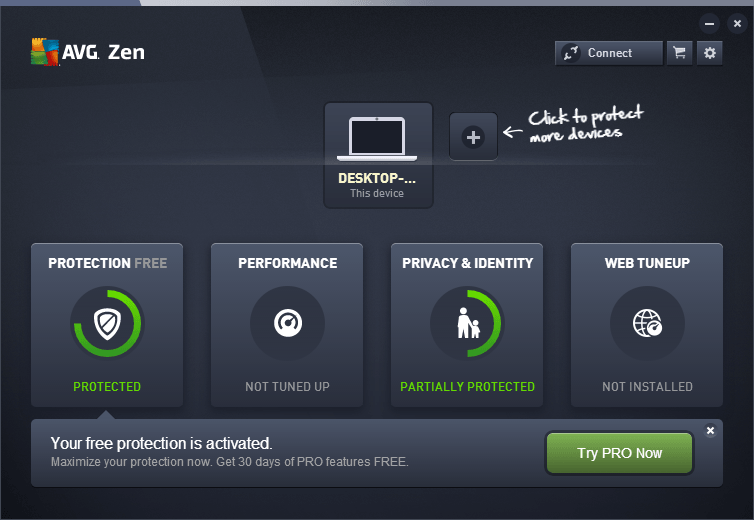 AVG Zen installed