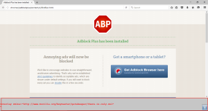 AdblockPlus doesn't work in Firefox 45 and shows the error