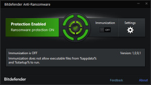 Bitdefender anticryptowall protect your files from being encrypted by Cryptowall 4.0 ransomware