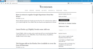 Opera 35 with seperate search box in address bar