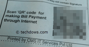 BSNL Phone bill with QR Code