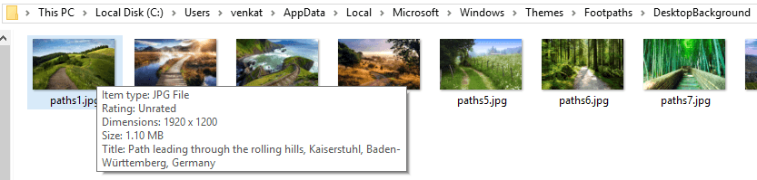 Where Windows 10 Themes Photos were taken?