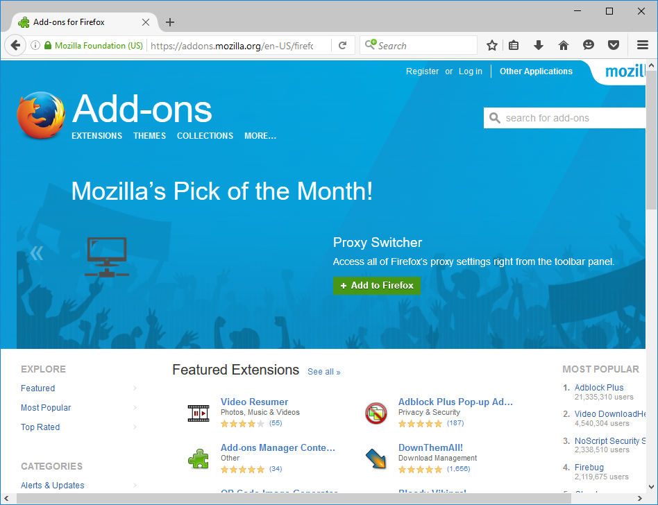 add-ons.mozilla.org new look
