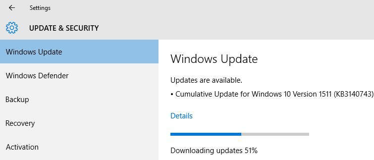 KB3140743 update