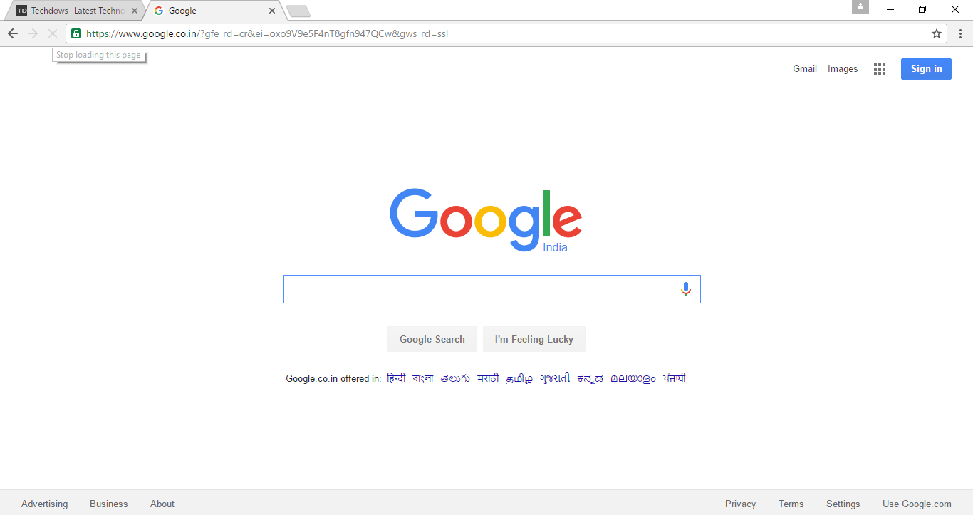 Windows Chrome with material design activated