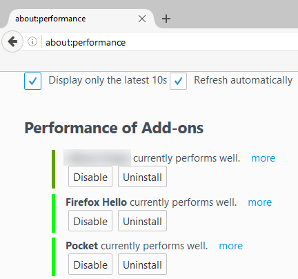 Firefox 47 final about performance page