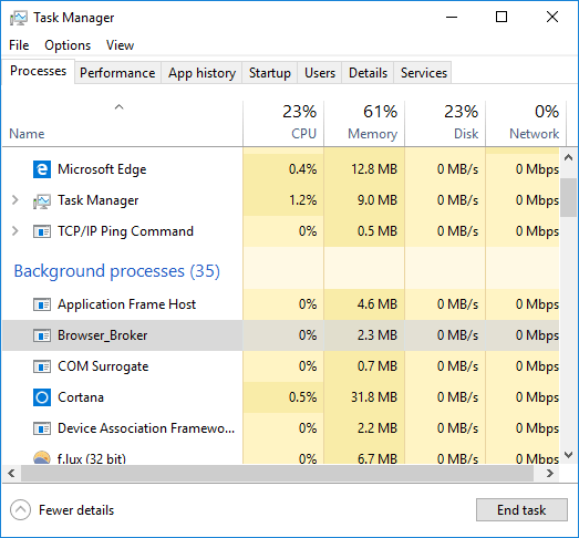 What is Browser_Broker exe process in Windows 10? & Why it is Running?