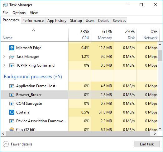 Browser_Broker Windows 10 task manager