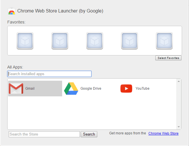 Chrome Web store launcher by Google