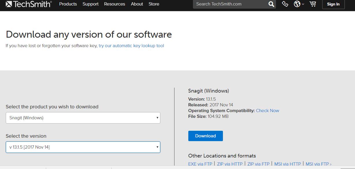 snagit license key location