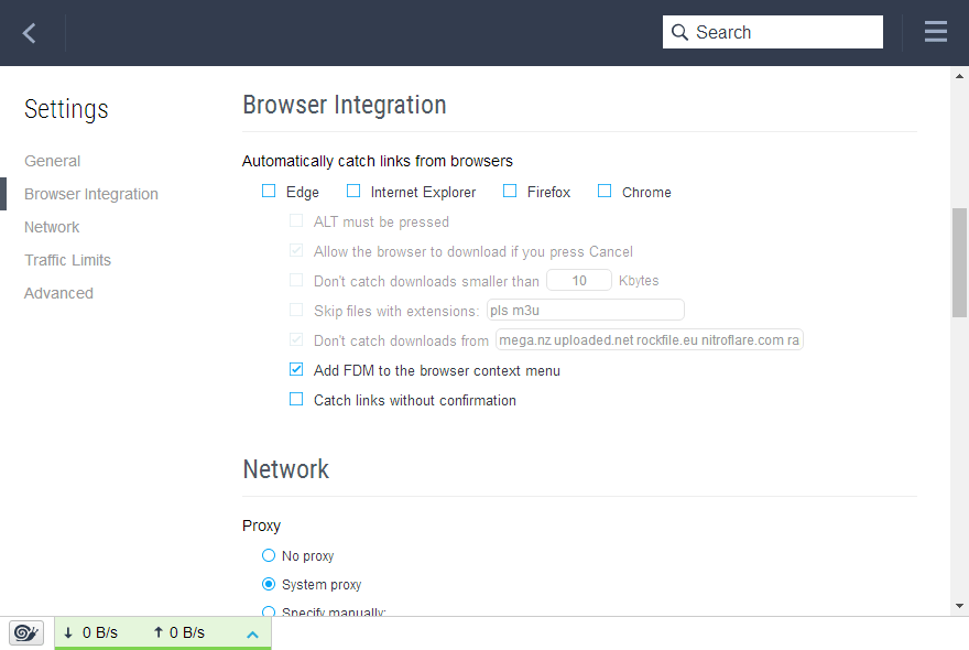 Free Download Manager 5.1 browser integration