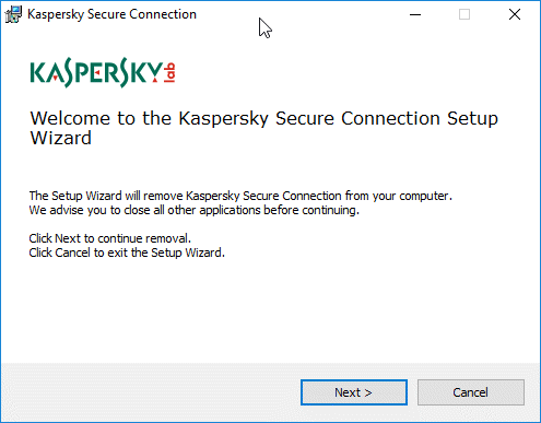 How to Uninstall Kaspersky Secure Connection?