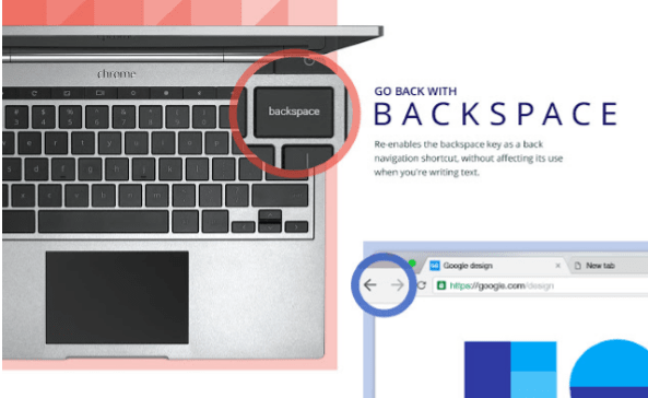 Go back with Backspace by Google Chrome extension
