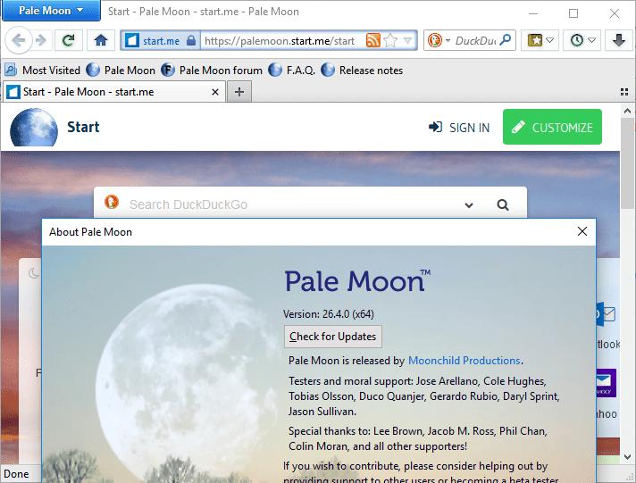Pale Moon 26.4
