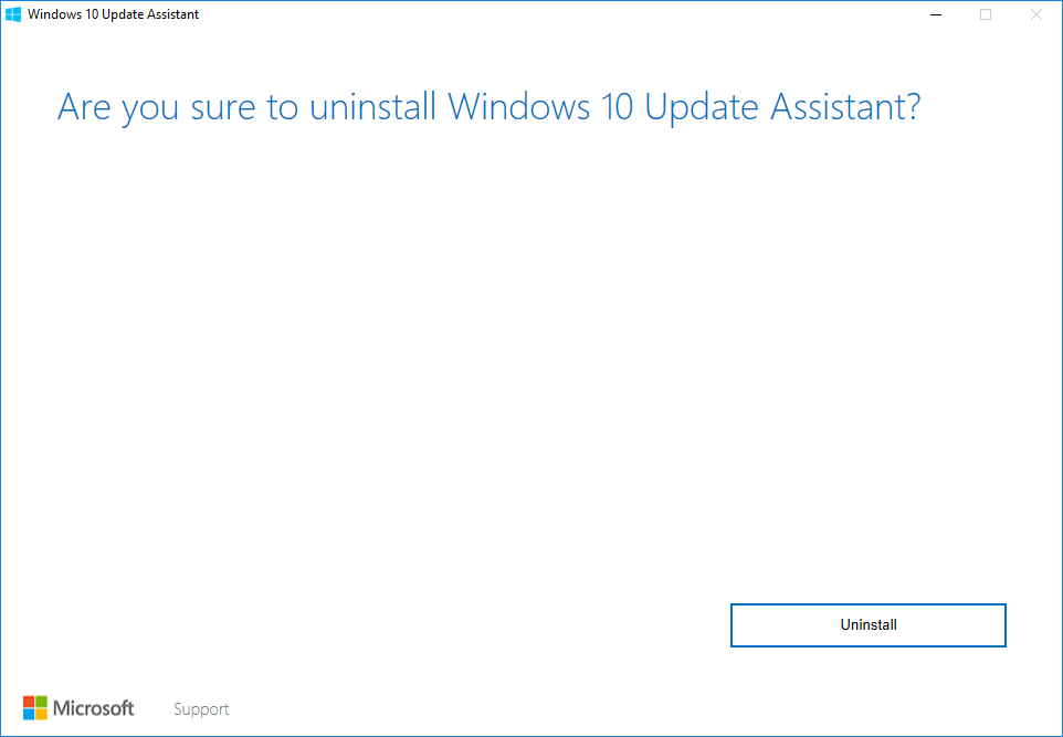 Uninstall Windows 10 Upgrade Assistant