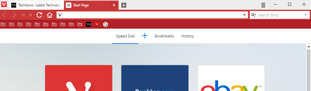 Vivaldi bookmark bar bookmarks Icon view