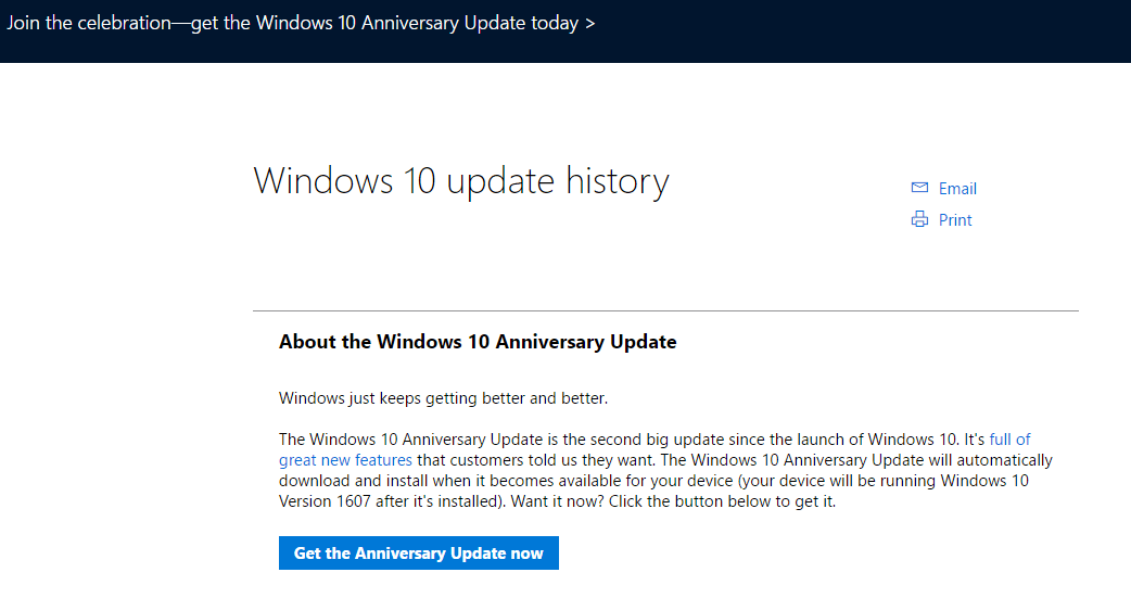 how to force windows 10 to upgrade to anniversary update version 1607