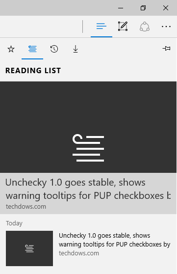 accessing reading list