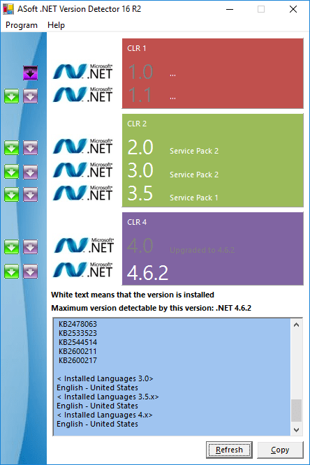 ASoft .NET Version Detector .NET Framework 4.6.2