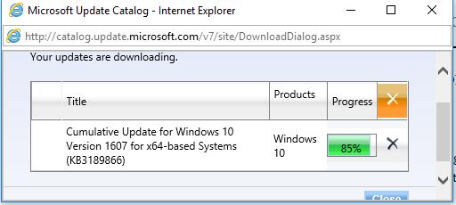 Windows 10 Update Download Stuck