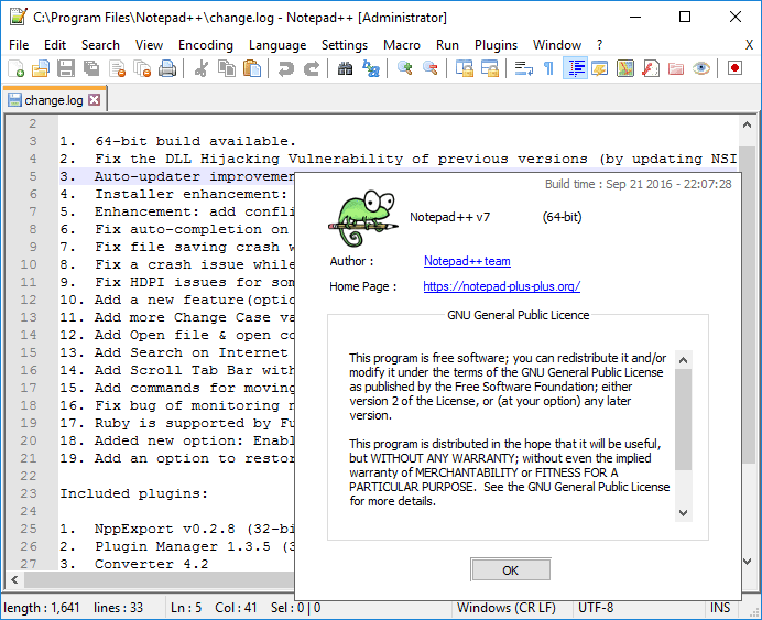 notepad++ 64 bits windows 7