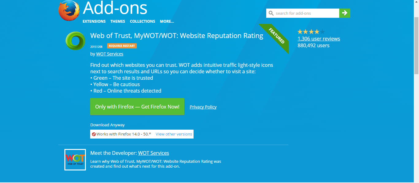 Web of Trust (WOT) Add-on taken down by Google and Mozilla after