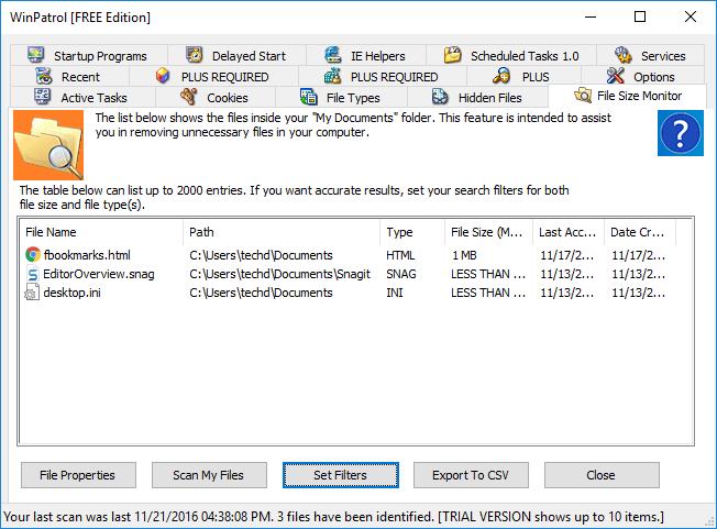 winpatrol-file-size-monitor