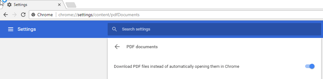 Chrome 57 how to disableenable chrome pdf viewer techdows chrome internal pdf viewer will be enableddisabled as per the setting chosen by you ccuart Images