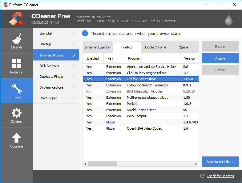 firefox remove disabled plugins