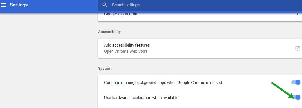 Fix Chrome shows black Screen when minimized or maximized