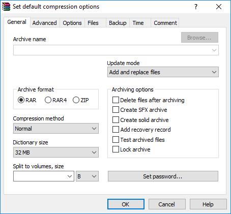 how to change rar file to