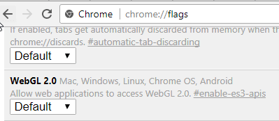 Fix Chrome's 'Rats WebGL hit a snag' error
