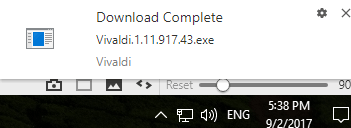 How to disable Vivaldi's download complete notifications