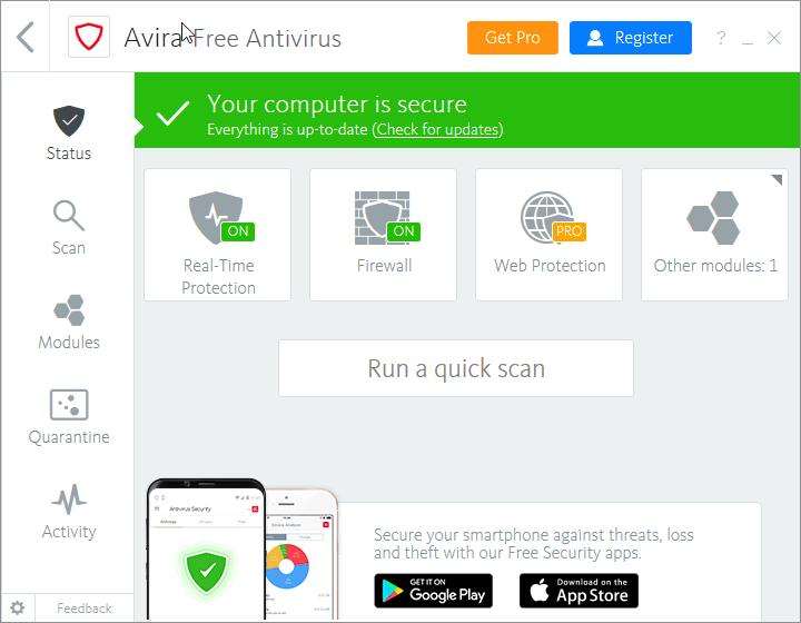 download avira free antivirus offline installer