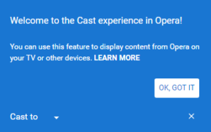 Opera 50 gets Chromecast Support