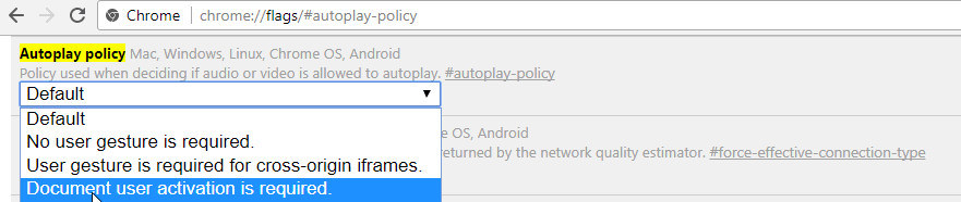 how to have chrome auto play background video tabs