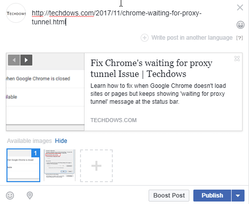 Fix Facebook not showing Link Preview